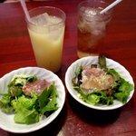 PIZZA DINING JOYs - 料理写真:セットのサラダ・ドリンク!