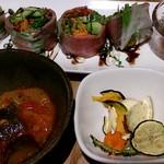 オーガニックカフェ・ラムノ - ローストビーフの生春巻き