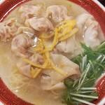 広州市場 - 柚子塩ワンタン麺的な限定メニュー