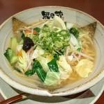 越後秘蔵麺 無尽蔵 - 野菜塩ラーメン大盛
