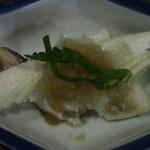 90747155 - お通しの白身魚もおいしい