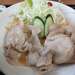 食事なとり - 生姜焼き定食~☆