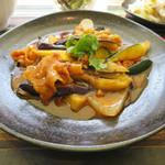 90749717 - 豚肉と茄子の酸味辛し炒め