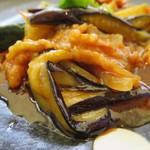 90749721 - 豚肉と茄子の酸味辛し炒め
