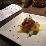 海山味 - 真蛸とマンゴーマリネ
