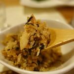 割烹 縮 - 焼き魚と高菜と明太子焼飯