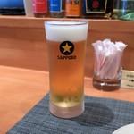 創作和食とだし巻き揚げサンド WATANABE - 生ビール