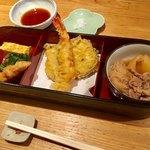 たばちょ - たばちょ御膳 前菜、天ぷら、煮物