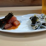 家庭料理 小川 - 漬まぐろ・春雨酢物盛