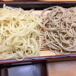 蕎麦 ひびき庵 - 二色せいろです。
