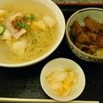 90755569 - 冷麺大&焼肉丼セット