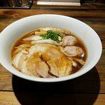 松戸中華そば 富田食堂 - 純粋金華豚ワンタンそば