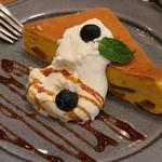 90761073 - かぼちゃのチーズケーキ、ドリンクセットで950円