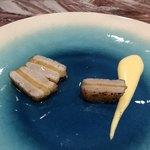 Libre - ホタテ貝柱と喜界島パインのサンド ソースヴァンジョーヌとベルベールオイル