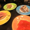 廻る富山湾 すし玉 - 料理写真:この4皿でスタート