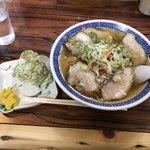 ひさみなと食堂 - チャーシューメン+おにぎり昆布