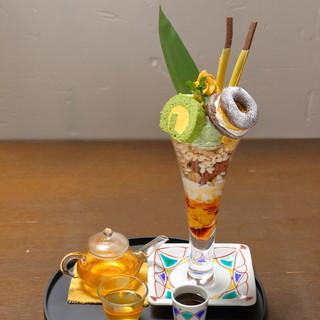 おもてなし喫茶メニュー加賀パフェ(2018年バージョン)
