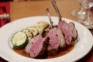 クネル - 仔羊背ロース肉のロースト タイムソース