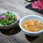 代官山焼肉 kintan - ☆サラダとスープ