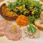 Kikuya René - ワンプレートランチ スープとデザートつき。