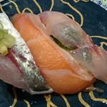 回転寿司 力丸 神戸垂水店 - 日替わり鮮魚三昧350円