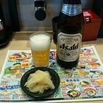 回転寿司 力丸 神戸垂水店 - 瓶ビール550円