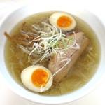眞麺 穂高 - 塩_730円、煮玉子_100円