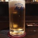 串かつ 関 - ついついビールから始めてしまいますねぇ(o^^o)