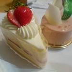 マロニエ - ショートケーキ、桃のムース