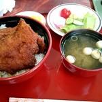 敦賀ヨーロッパ軒 - 名物カツ丼のセット