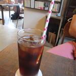nico cafe - ストローは紙製でかわいい