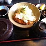 八代郡 - 料理写真:おろしトンカツ定食 1000円