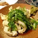 地鶏割烹 稲垣 - とり皮ポン酢(かな?w