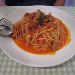 バジリコ - チキンのトマトソーススパゲッティ(ランチメニュー)