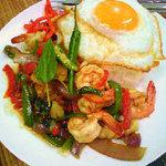タイ料理ファンディー - ガパオタレー(許可を得て転載)