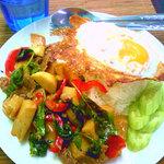 タイ料理ファンディー - ガパオノーマイ(許可を得て転載)