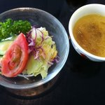 けやきの杜 宮城県図書館店 - カツレツSETの (スープ&ミニサラダ)