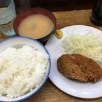 こづち - 180511日替わり定食500円ミンチカツ