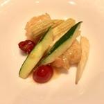 個室中華 頤和園 - 海老と夏野菜のチェリーペッパー炒め