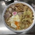 中華そば みたか - 料理写真:チャーシューワンタンメン850円+卵(半熟〕50円です。卵は生卵も選べます。