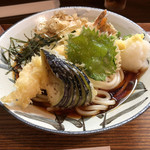 麺 銀三 - 海老おろしうどん冷(880円)+大盛り(100円)