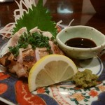 和食や 円 - 比内地鶏のたたき1250円