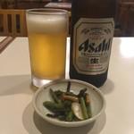 90818531 - 瓶ビールとお通し