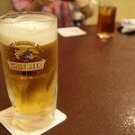 横田屋  - 生ビール 中ジョッキ 480円