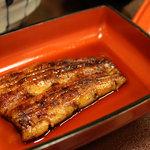 横田屋  - 蒲焼定食(梅) ご飯、漬物、肝吸付き 1050円