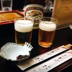 神田まつや - 瓶ビールと蕎麦味噌(*´ω`*)