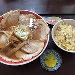 悟空 - 料理写真:とびうおチャーシュー900円+半チャーハン300円