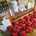 そば処 おおほり - トマトの味が濃くて美味しかった!