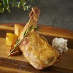 若鶏のコンフィ リコッタチーズ