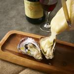 牡蠣のラクレット